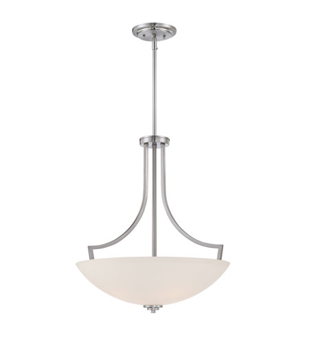 Quoizel Lighting Gilbert 4 Light Pendant in Brushed Nickel GBT2820BN photo