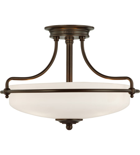 Quoizel Lighting Griffin 3 Light Semi-Flush Mount in Palladian Bronze GF1717PN photo