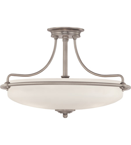 Quoizel GF1721AN Griffin 4 Light 21 inch Antique Nickel Semi-Flush Mount Ceiling Light photo