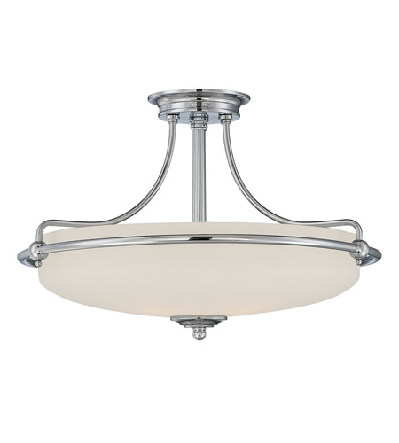 Quoizel Lighting Griffin 4 Light Semi-Flush Mount in Polished Chrome GF1721C photo