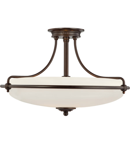 Quoizel Lighting Griffin 4 Light Semi-Flush Mount in Palladian Bronze GF1721PN photo