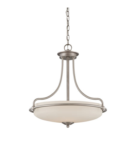 Quoizel Lighting Griffin 4 Light Pendant in Antique Nickel GF2821AN photo