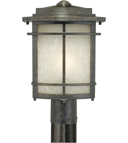 Quoizel GLN9010IB Galen 1 Light 15 inch Imperial Bronze Outdoor Post Lantern photo
