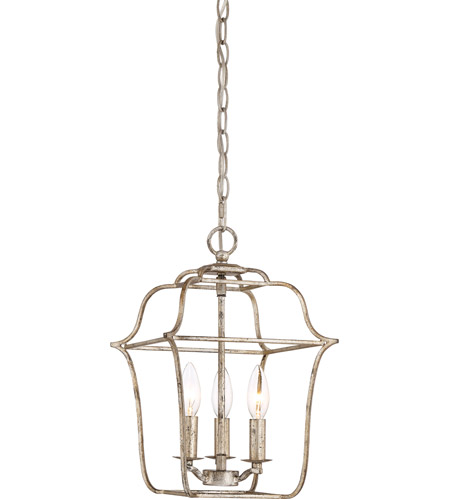 Z Gallerie Light Fixtures: Quoizel GLY5203CS Gallery 3 Light 10 Inch Century Silver