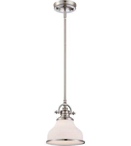 Z Bar Mini Lamp: Quoizel GRT1508BN Grant 1 Light 8 Inch Brushed Nickel Mini
