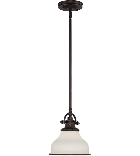 Quoizel Lighting Grant 1 Light Mini Pendant in Palladian Bronze GRT1508PN photo