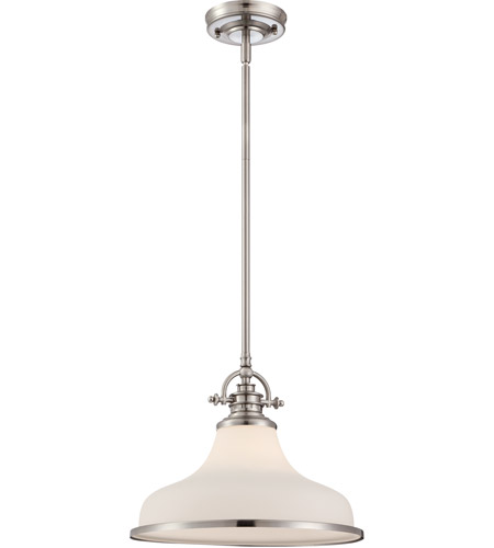 Quoizel GRT2814BN Grant 1 Light 14 inch Brushed Nickel Pendant Ceiling Light  photo