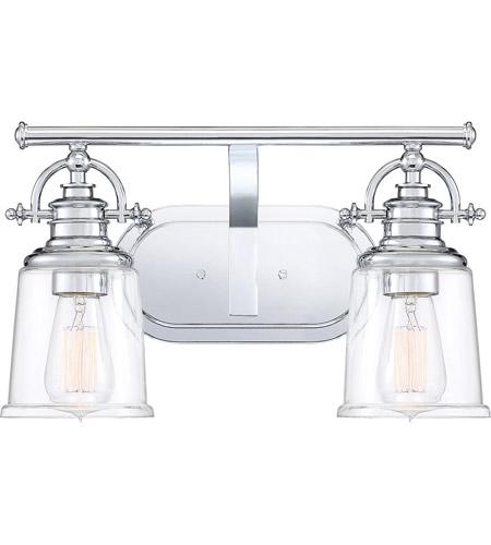 Quoizel Grt8602c Grant 2 Light 16 Inch Polished Chrome Bath Wall Medium
