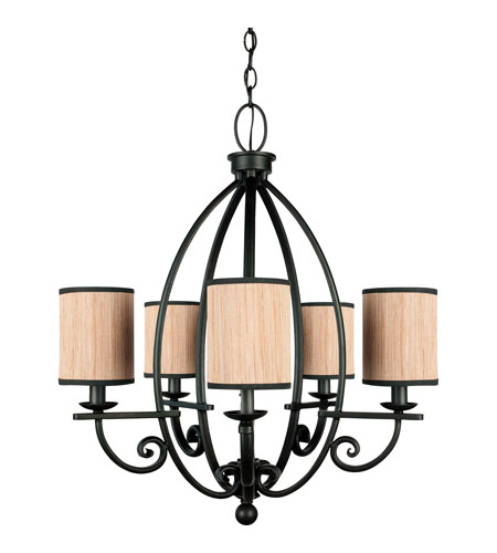 Quoizel Lighting Grayson 5 Light Chandelier in Serengeti GRY5005SN photo
