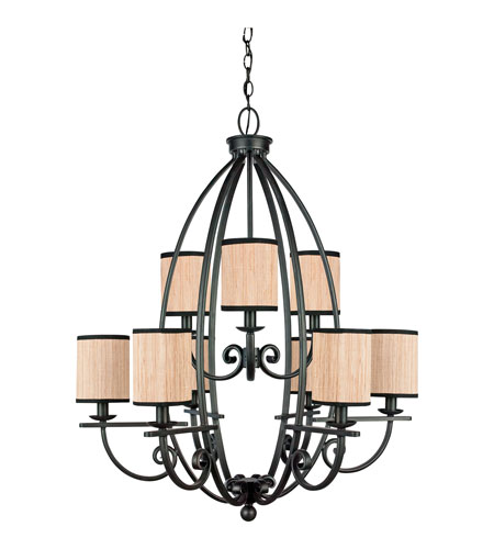 Quoizel Lighting Grayson 9 Light Chandelier in Serengeti GRY5009SN photo