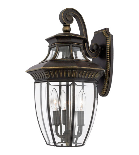 Quoizel GT8981IB Georgetown 3 Light 18 inch Imperial Bronze Outdoor Wall Lantern photo