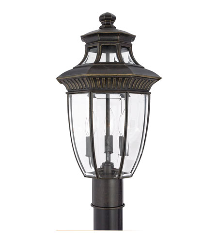 Quoizel Lighting Georgetown 3 Light Outdoor Post Lantern in Imperial Bronze GT9294IB photo