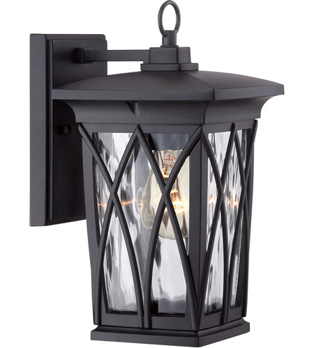 Quoizel GVR8406K Grover 1 Light 11 inch Mystic Black Outdoor Wall Lantern photo
