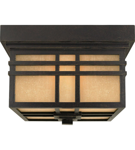 Quoizel Lighting Hillcrest 2 Light Outdoor Semi-Flush Mount in Imperial Bronze HC1612IB photo
