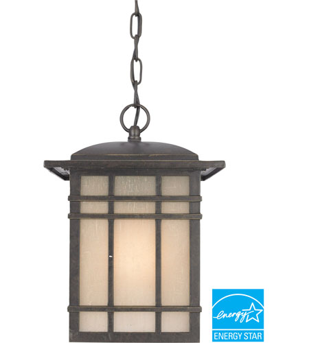Quoizel HC1909IBFL Hillcrest 1 Light 9 inch Imperial Bronze Outdoor Hanging Lantern in Fluorescent photo