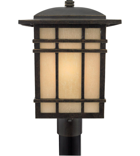 Quoizel Lighting Hillcrest 1 Light Outdoor Post Lantern in Imperial Bronze HC9011IB photo