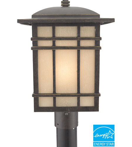 Quoizel HC9011IBFL Hillcrest 1 Light 17 inch Imperial Bronze Outdoor Post Lantern in Fluorescent photo