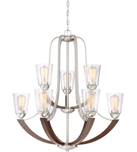 Quoizel HE5009BN Holbeck 9 Light 31 inch Brushed Nickel Chandelier Ceiling Light photo  sc 1 st  Quoizel Lighting Lights : brushed nickel chandelier lighting - azcodes.com