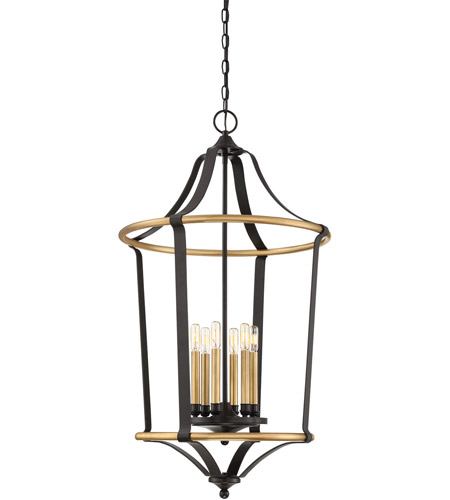 Western Foyer Lighting : Quoizel hgt wt highgate light inch western bronze
