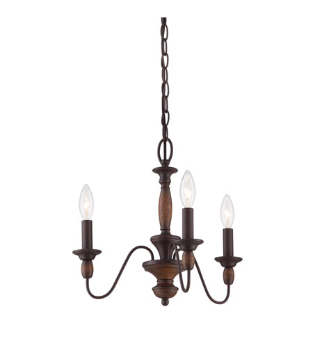 Quoizel Lighting Holbrook 3 Light Chandelier in Tuscan Brown HK5003TC photo