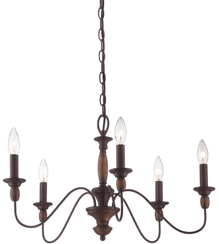 Quoizel Lighting Holbrook 5 Light Chandelier In Tuscan Brown Hk5005tc