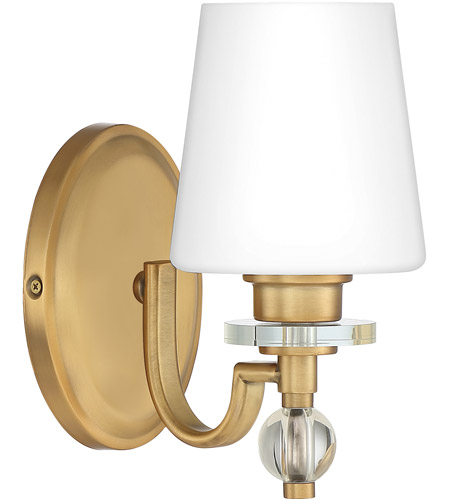 Quoizel HS8601WS Hollister 1 Light 8 inch Weathered Brass Bath Light Wall Light photo