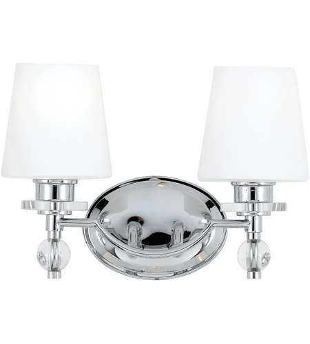 Quoizel Bathroom Vanity Lights : Hollister 2 Light 14 inch Polished Chrome Bath Light Wall Light