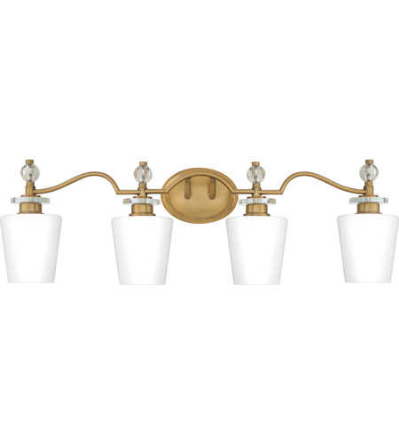 Quoizel HS8604WS Hollister 4 Light 32 inch Weathered Brass Bath Light Wall Light photo
