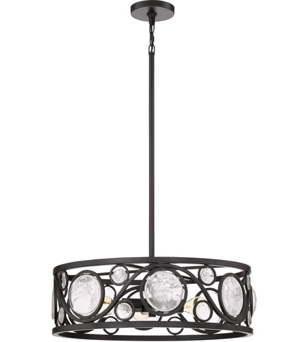 Jubilee 4 Light 22 Inch Mystic Black Pendant Ceiling