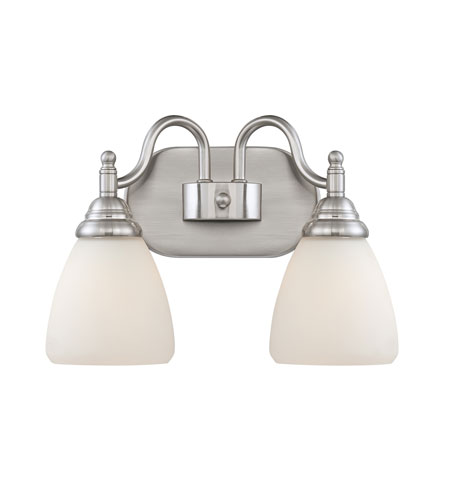Quoizel Lighting Jefferson 2 Light Bath Vanity in Brushed Nickel JFN8602BN photo