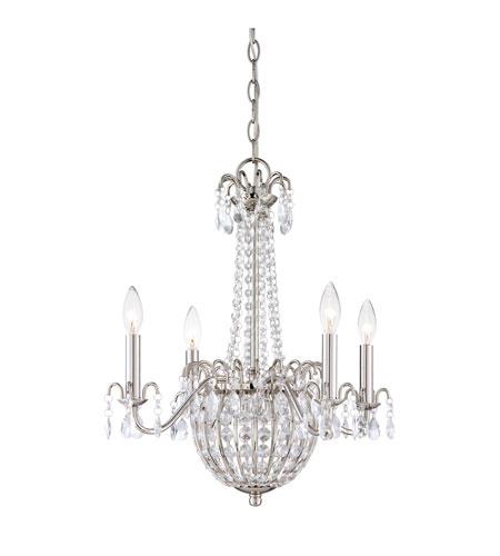 quoizel lighting jolene 4 light chandelier in imperial silver jle5004is