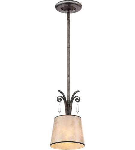 Quoizel KD1507MM Kendra 1 Light 7 inch Mottled Silver Mini Pendant Ceiling Light, Naturals photo