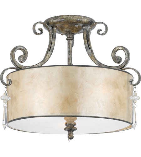 Quoizel KD1716MM Kendra 3 Light 16 inch Mottled Silver Semi-Flush Mount Ceiling Light photo