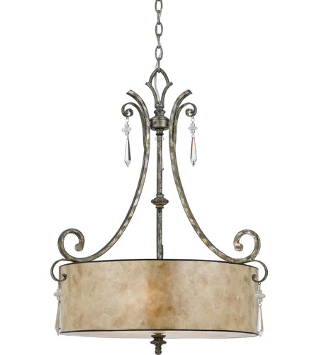 Quoizel KD2824MM Kendra 4 Light 24 inch Mottled Silver Pendant Ceiling Light photo