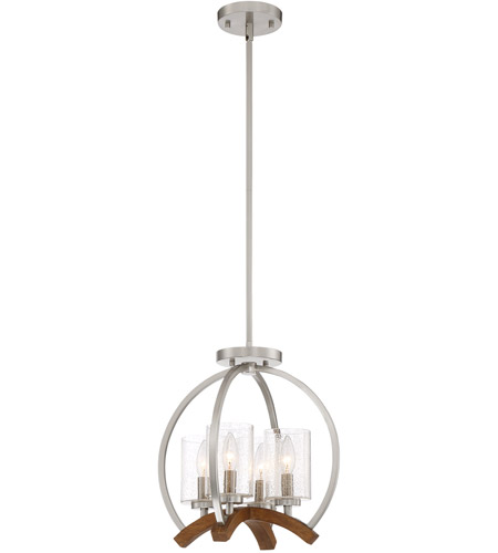 Quoizel Kdn1714bn Kayden 4 Light 15 Inch Brushed Nickel Convertible Semi Flush Pendant Ceiling Naturals