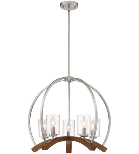 Quoizel KDN5005BN Kayden 5 Light 24 inch Brushed Nickel Chandelier Ceiling Light, Naturals photo