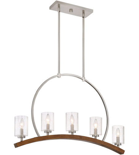 Quoizel KDN534BN Kayden 5 Light 34 inch Brushed Nickel Island ...
