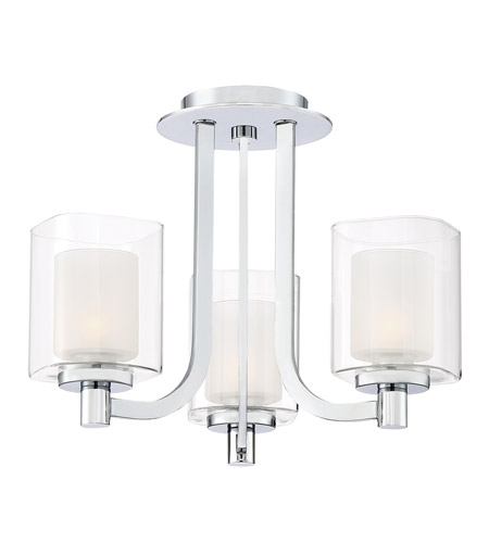 Quoizel KLT1715C Kolt 3 Light 15 inch Polished Chrome Semi-Flush Mount Ceiling Light photo