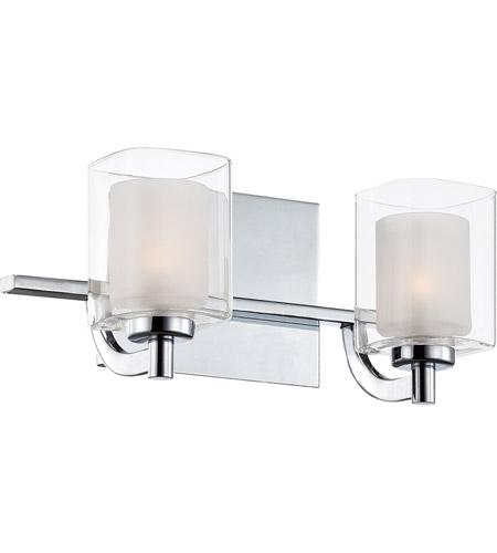 quoizel klt8602cled kolt led 13 inch polished chrome bath light wall light in frosted led g9 - Quoizel Bathroom Lighting