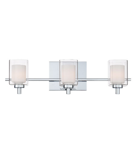 Quoizel Kolt 48 Light Bath Light In Polished Chrome KLT86048C Amazing Chrome Bathroom Lighting Fixtures