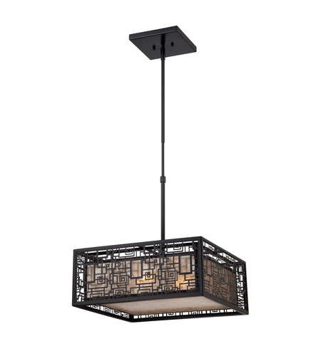 Quoizel Lighting Kenner 4 Light Pendant in Mystic Black KNR2817K photo