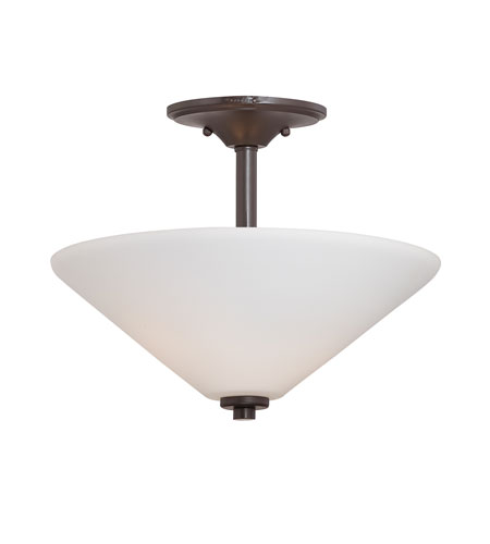 Quoizel Lighting Kara 2 Light Semi-Flush Mount in Western Bronze KRA1713WT photo