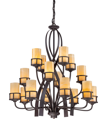 Quoizel KY5016IB Kyle 16 Light 42 inch Imperial Bronze Chandelier Ceiling Light, Naturals photo