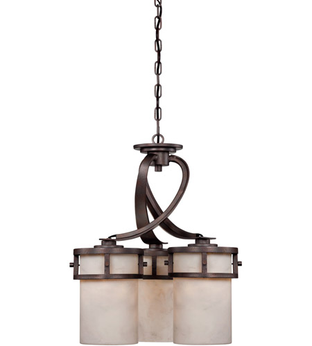 Quoizel KY5103IN Kyle 3 Light 20 inch Iron Gate Chandelier Ceiling Light in White Onyx Shade photo