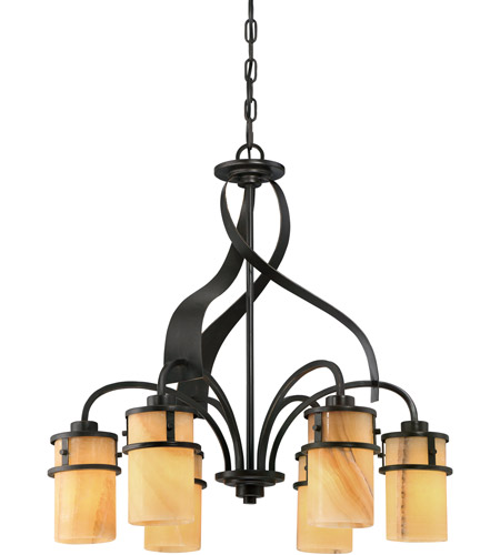 Quoizel KY5106IB Kyle 6 Light 24 inch Imperial Bronze Dinette Chandelier Ceiling Light, Naturals photo