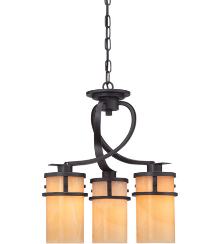 Quoizel KY5503IB Kyle 3 Light 17 inch Imperial Bronze Chandelier Ceiling Light, Naturals photo