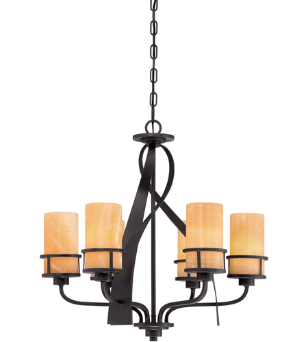 Quoizel KY5506IB Kyle 6 Light 23 inch Imperial Bronze Chandelier Ceiling Light, Naturals photo