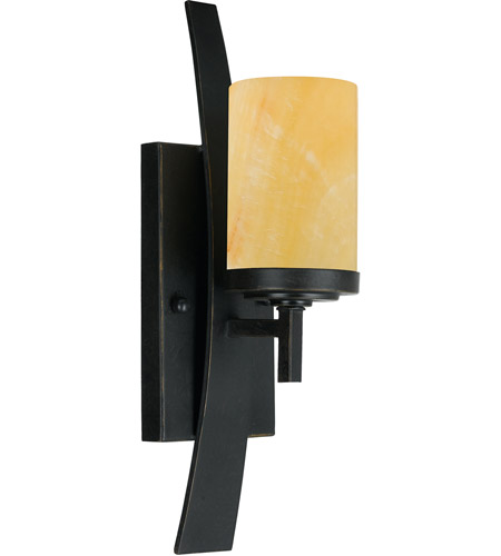 Quoizel KY8701IB Kyle 1 Light 5 inch Imperial Bronze Wall Sconce Wall Light in Butterscotch Onyx Shade, Naturals photo thumbnail