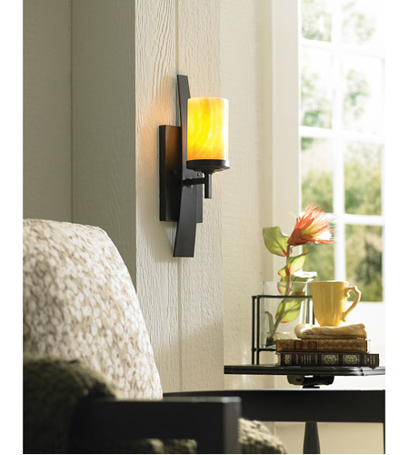 Quoizel KY8701IB Kyle 1 Light 5 inch Imperial Bronze Wall Sconce Wall Light in Butterscotch Onyx Shade, Naturals alternative photo thumbnail