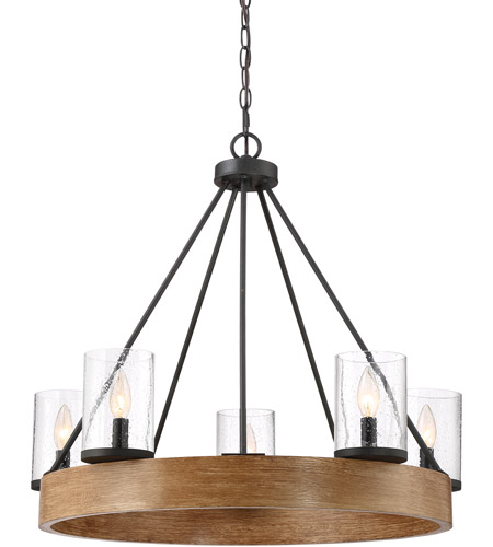Quoizel Grey Ash Steel Chandeliers